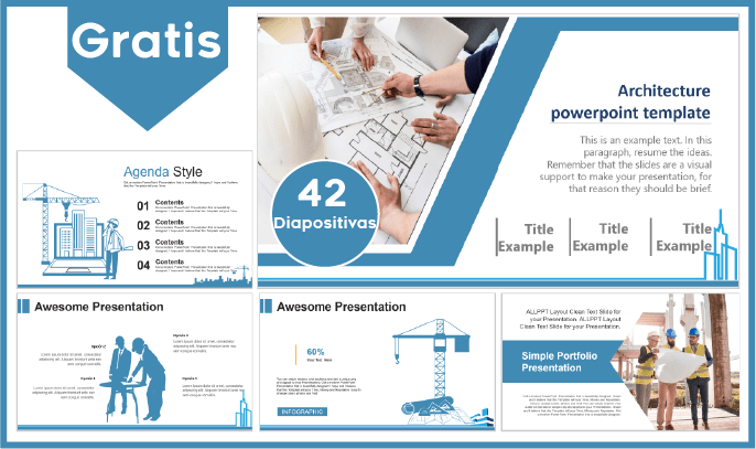 Plantilla de Arquitectura para Power point gratis.