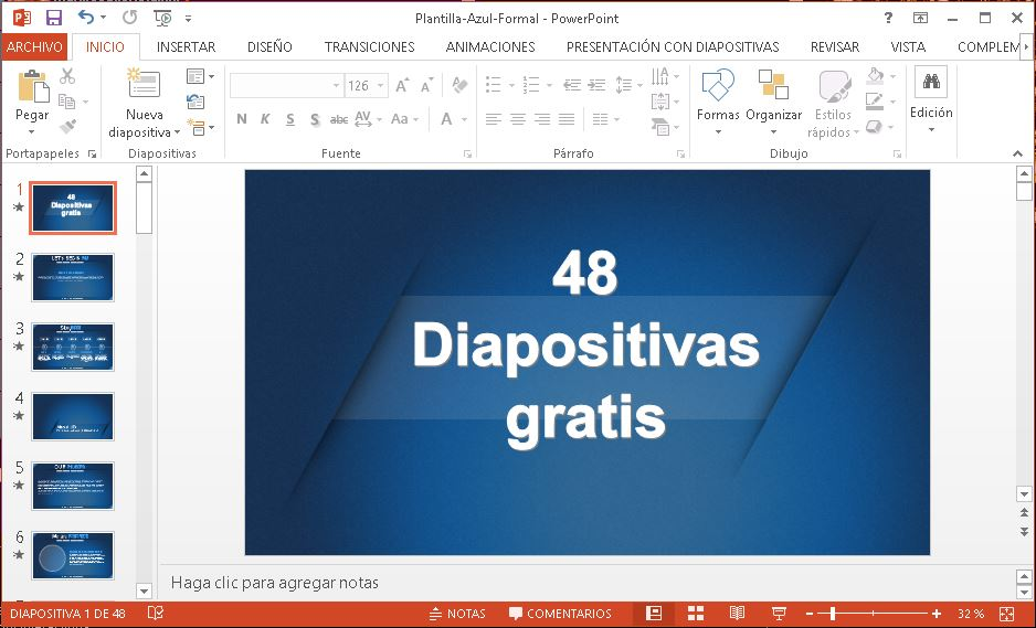 Plantilla azul formal para power point gratis.