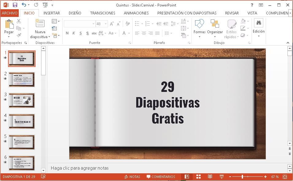 Plantilla estilo cuaderno para power point.