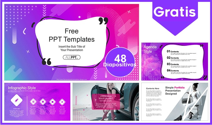 Plantilla Power point Femenina Moderna gratis.