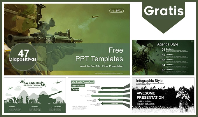 Plantilla power point de guerra gratis.