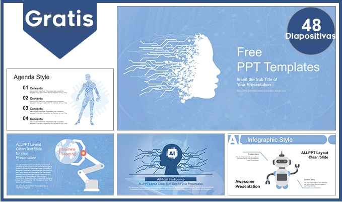 Plantilla Power point de Inteligencia Artificial gratis.