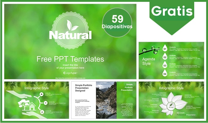 Plantilla power point de medio ambiente gratis.