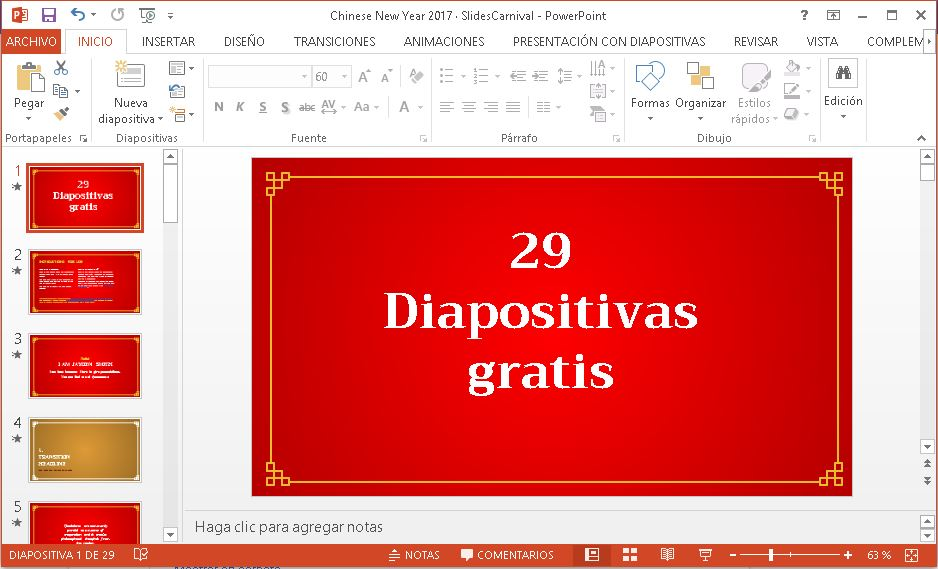 Plantilla Power point rojo intenso.