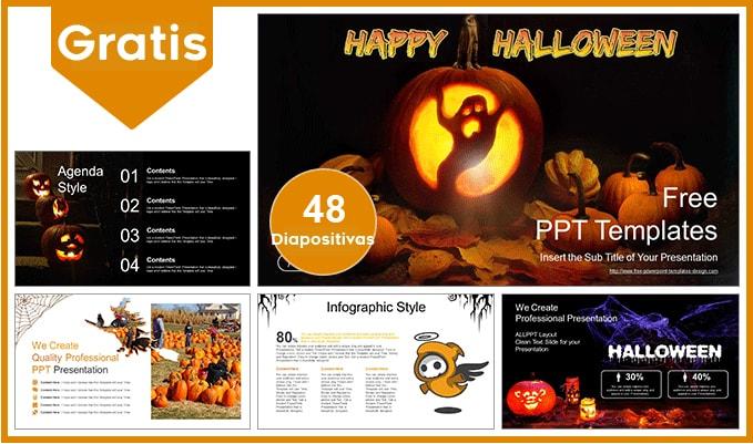 Plantilla Power Point de Halloween gratis.
