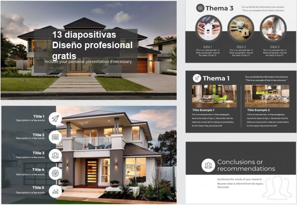 moder house power point template free.
