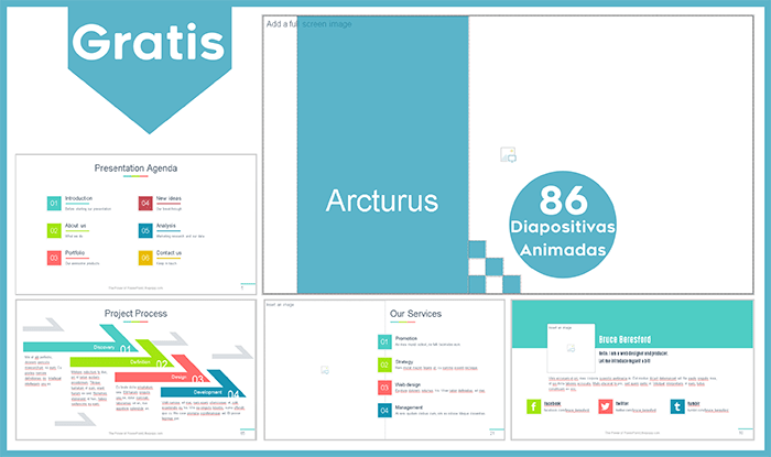Plantilla animada arturus para power point gratis.