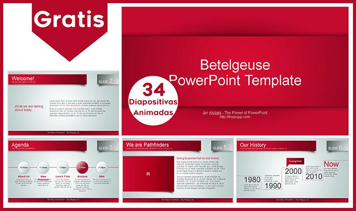 Plantilla animada Betelgeuse para power point gratis.
