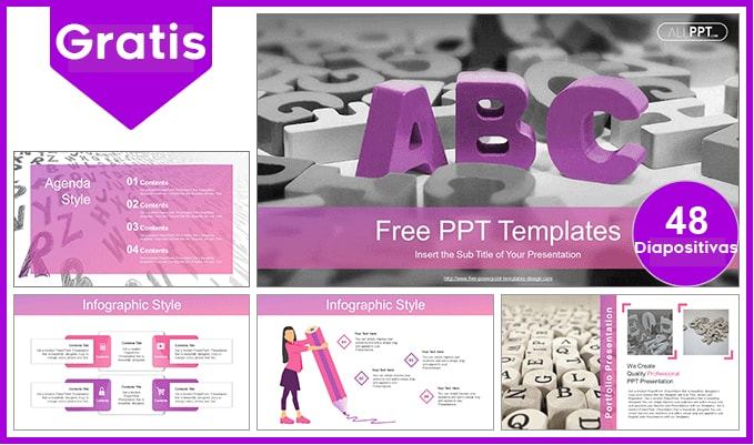 Plantilla power point del abc del alfabeto gratis