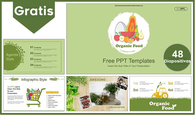Plantilla power point de alimentos organicos para power point gratis