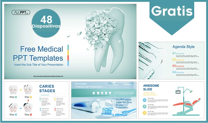 Plantilla Power point de odontología gratis.