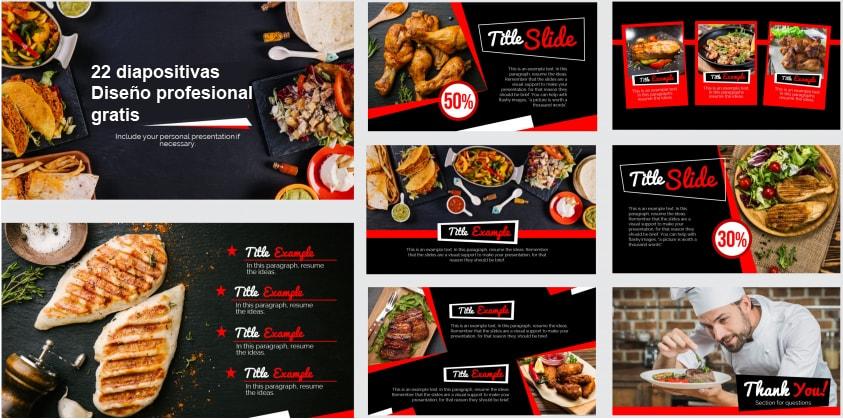 Plantilla Power Point para Restaurante gratis.