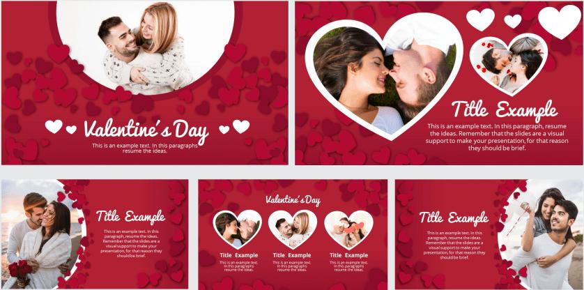 Plantilla para Power Point de San Valentín gratis