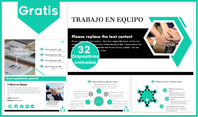 Plantilla Power point para Trabajos en equipo gratis.