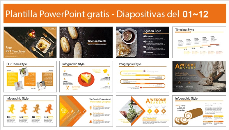 Bakery power point template free.