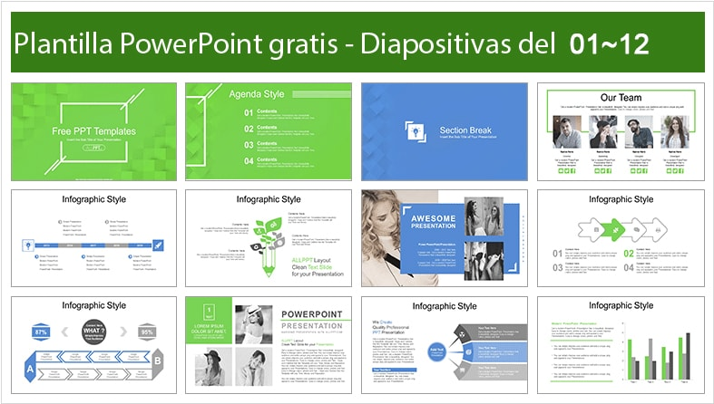 Modern Green Template for Powerpoint