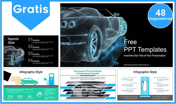 Plantilla power point de autos electricos gratis.