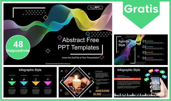 Plantilla power point de ondas abstractas gratis.
