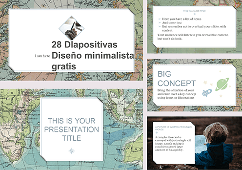 Template power point antique Maps free.