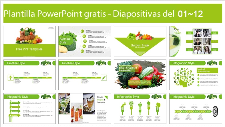 Vegetarian power point template free.