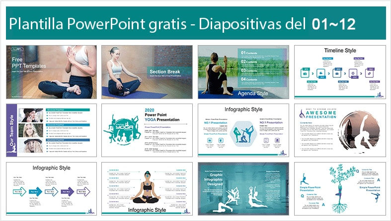 Yoga power point template free.