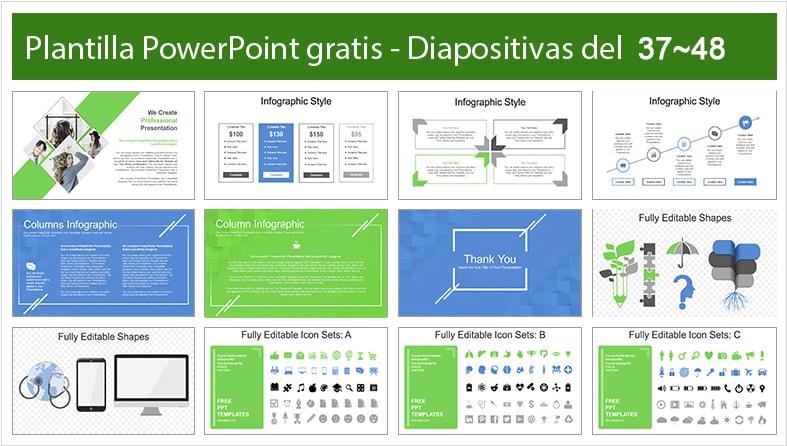 Diapositivas de color verde modernidad