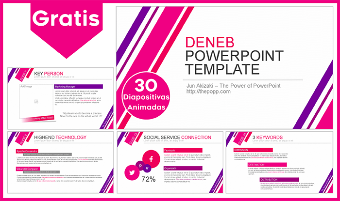 Plantilla animada Deneb para Power point gratis.