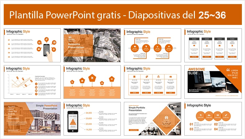 Plantilla estilo departamento para power point.