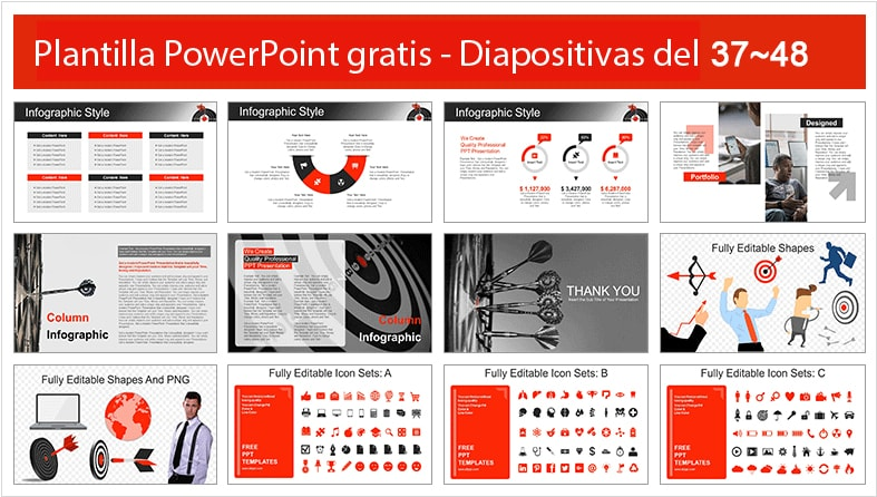 Plantilla power point de objetivos y logros para power point gratis.