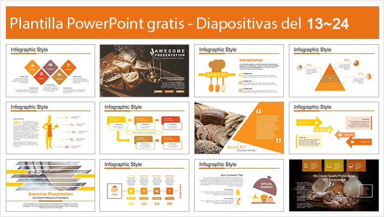 Plantilla de pan para power point.