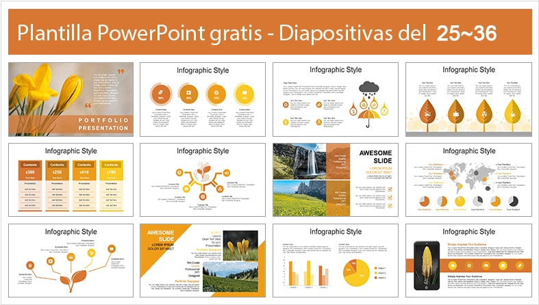 Plantilla power point de la flora.