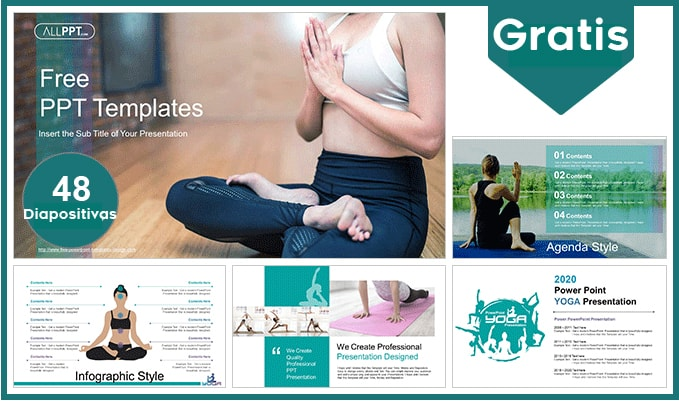 Plantilla power point de Yoga gratis.