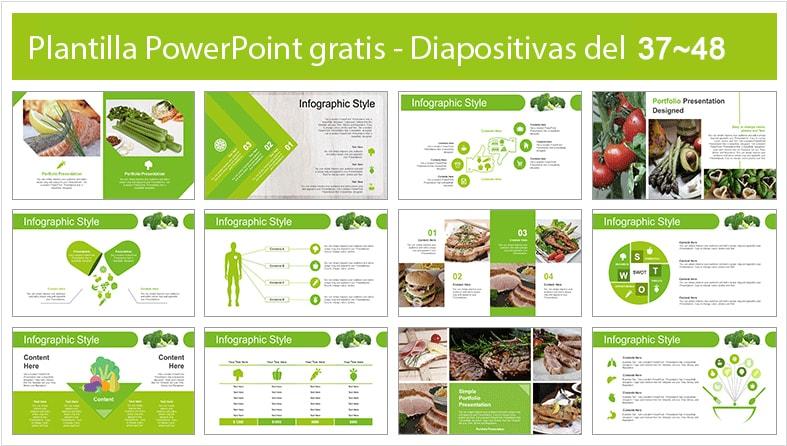 plantilla de vegetarismo para powerpoint.