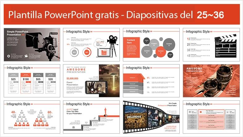 Plantilla powerpoint cinema.