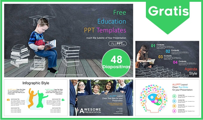 Plantilla power point para escolares gratis.