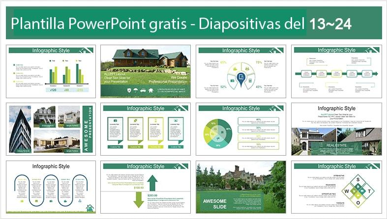Plantilla de casas de campo para powerpoint gratis.