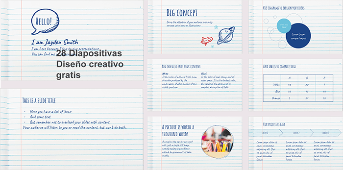 Plantillas power point estilo bloc de notas gratis.