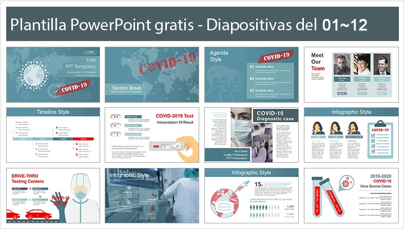 COVID-19 testing power point template free.