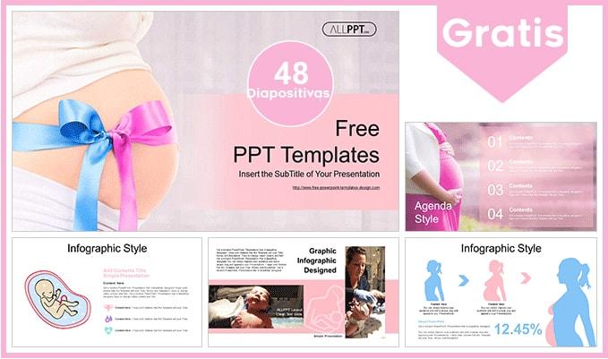 Plantilla power point de embarazo gratis.