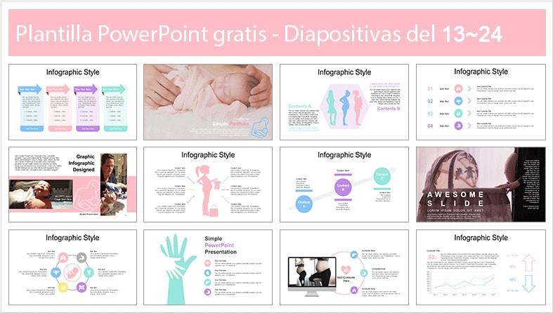 Plantilla power point de maternidad.