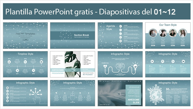 Polygonal Space Powerpoint Template free.