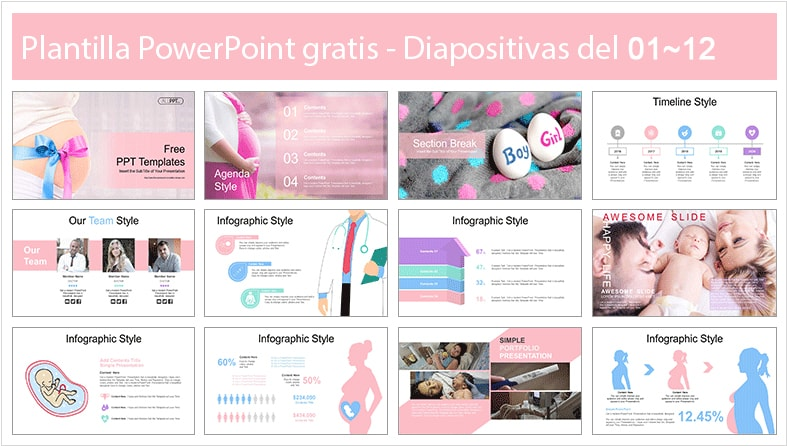 Pregnancy Power point template free.