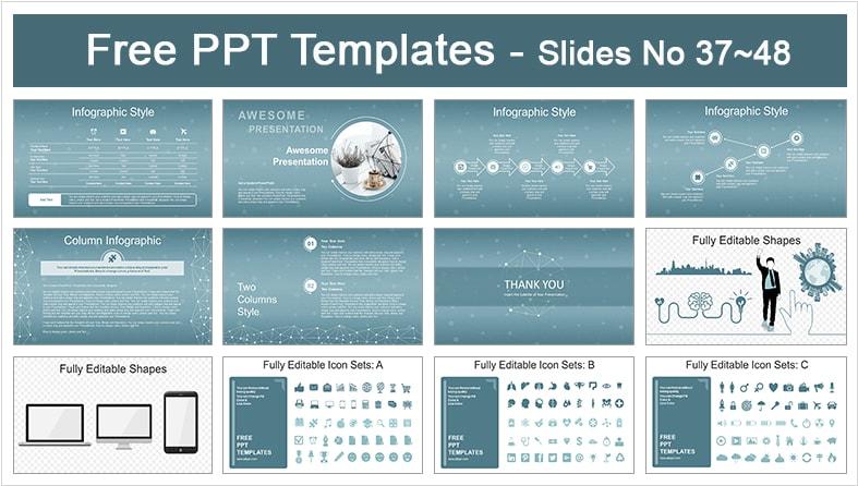 Diapositivas poligonales gratis.