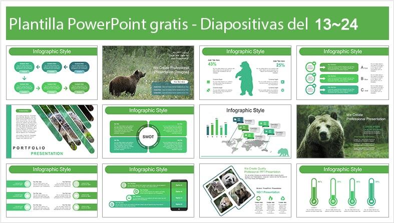 Plantilla de oso pardo para powerpoint.