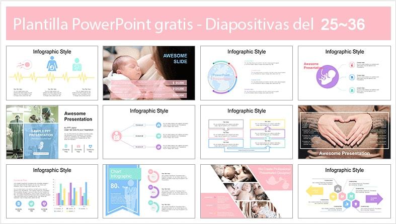 Plantilla powerpoint de mujer embarazada.