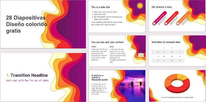 ppt estilo colorido para powerpoint.