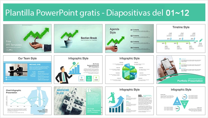 Economic Griwth Power point template free.
