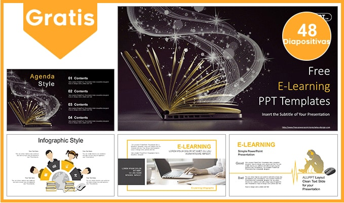 Plantilla power point de educacion digital.