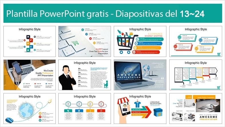 plantilla de compras online para powerpoint gratis.