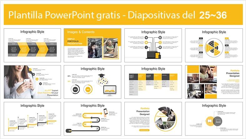 Plantilla de educacion online para powerpoint.